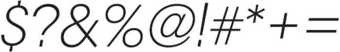 RNS Camelia Light Italic otf (300) Font OTHER CHARS