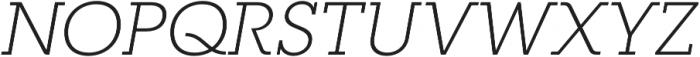 RNS Camelia Light Italic otf (300) Font UPPERCASE