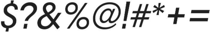 RNS Camelia Medium Italic otf (500) Font OTHER CHARS
