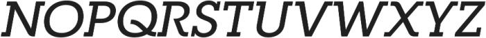 RNS Camelia Medium Italic otf (500) Font UPPERCASE