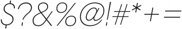RNS Camelia Thin Italic otf (100) Font OTHER CHARS