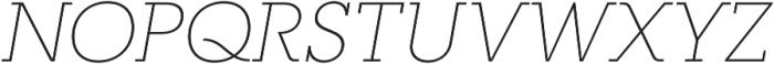 RNS Camelia Thin Italic otf (100) Font UPPERCASE