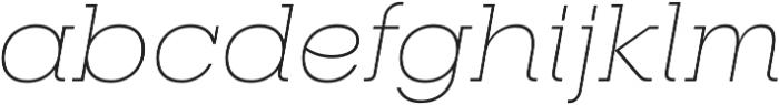 RNS Camelia Thin Italic otf (100) Font LOWERCASE