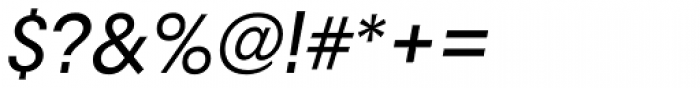 RNS Camelia Medium Italic Font OTHER CHARS