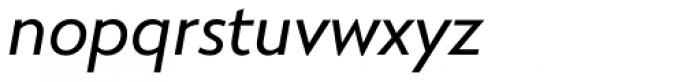 RNS Miles Medium Italic Font LOWERCASE