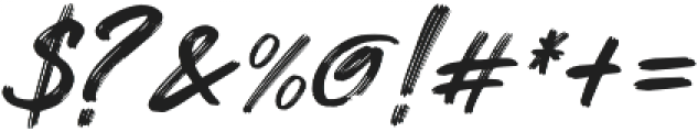 ROCK On RAWK Brush otf (400) Font OTHER CHARS