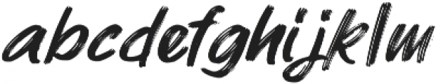 ROCK On RAWK Brush otf (400) Font LOWERCASE