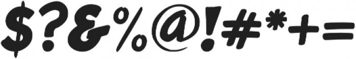 Roadbrush Italic otf (400) Font OTHER CHARS
