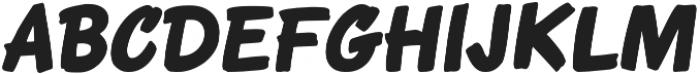 Roadbrush Italic otf (400) Font UPPERCASE