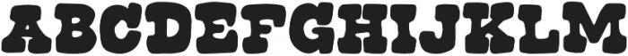 Roadside Regular otf (400) Font UPPERCASE