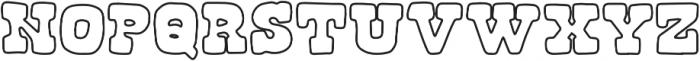 Roadside Regular otf (400) Font LOWERCASE