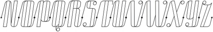 Roadster Scipt Line Dot Italic otf (400) Font UPPERCASE