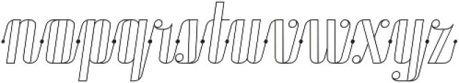 Roadster Scipt Line Dot Italic otf (400) Font LOWERCASE