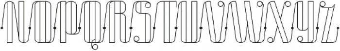 Roadster Scipt Line Dot otf (400) Font UPPERCASE