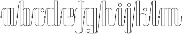 Roadster Scipt Line Dot otf (400) Font LOWERCASE