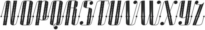 Roadster Scipt Solid Dot Deco Italic otf (400) Font UPPERCASE