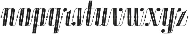 Roadster Scipt Solid Dot Deco Italic otf (400) Font LOWERCASE