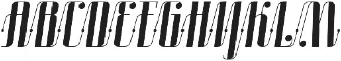 Roadster Scipt Solid Dot Italic otf (400) Font UPPERCASE
