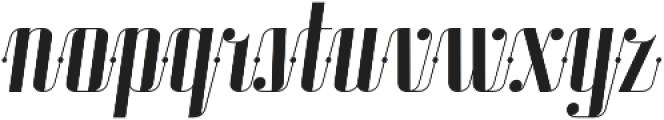 Roadster Scipt Solid Dot Italic otf (400) Font LOWERCASE