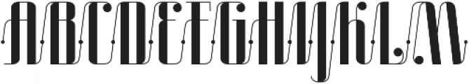 Roadster Scipt Solid Dot otf (400) Font UPPERCASE