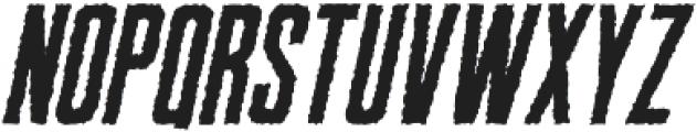 Robinson Distorted Oblique otf (400) Font UPPERCASE