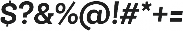 Roble Alt Bold Italic otf (700) Font OTHER CHARS