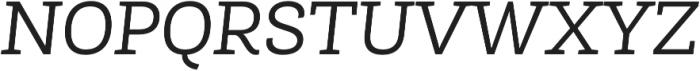 Roble Alt Book Italic otf (400) Font UPPERCASE