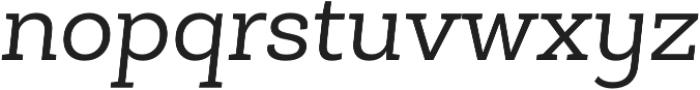 Roble Alt Book Italic otf (400) Font LOWERCASE