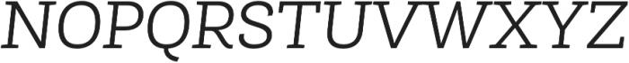 Roble Alt Light Italic otf (300) Font UPPERCASE