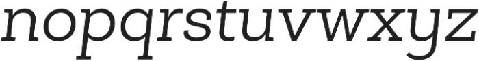 Roble Alt Light Italic otf (300) Font LOWERCASE