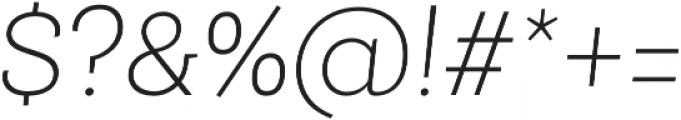 Roble Alt Thin Italic otf (100) Font OTHER CHARS