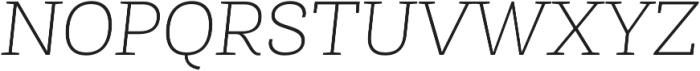 Roble Alt Thin Italic otf (100) Font UPPERCASE