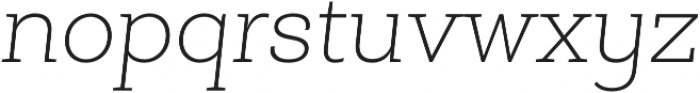 Roble Alt Thin Italic otf (100) Font LOWERCASE
