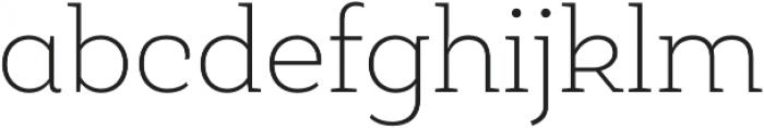 Roble Alt Thin otf (100) Font LOWERCASE