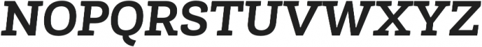 Roble Bold Italic otf (700) Font UPPERCASE