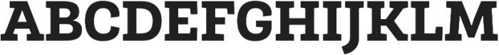 Roble ExtraBold otf (700) Font UPPERCASE