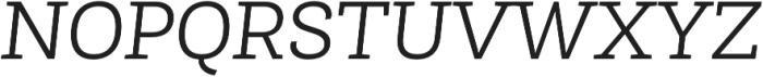 Roble Light Italic otf (300) Font UPPERCASE