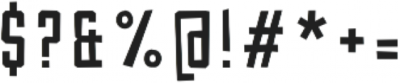 Robolt x Machine Cutting ttf (400) Font OTHER CHARS
