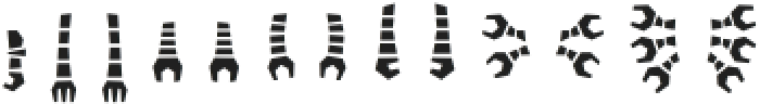 Robots ht Arms otf (400) Font LOWERCASE