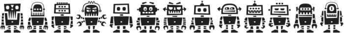 Robots ht Regular otf (400) Font LOWERCASE