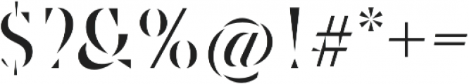 Robu Stencil Book otf (400) Font OTHER CHARS