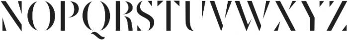 Robu Stencil Book otf (400) Font UPPERCASE
