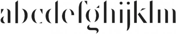 Robu Stencil Book otf (400) Font LOWERCASE