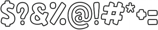 Rocco Outline otf (400) Font OTHER CHARS