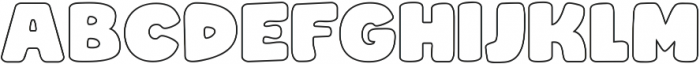 Rocco Pro Wide Outline ttf (400) Font UPPERCASE