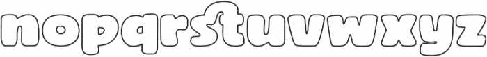 Rocco Pro Wide Outline ttf (400) Font LOWERCASE