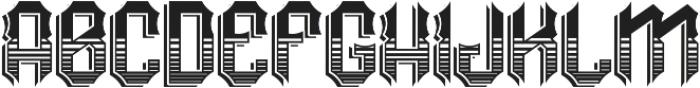 RockNRoll TextureAndShadow otf (400) Font LOWERCASE