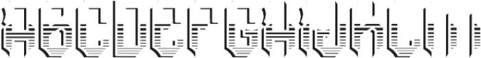 RockNRoll TextureAndShadowFX otf (400) Font LOWERCASE