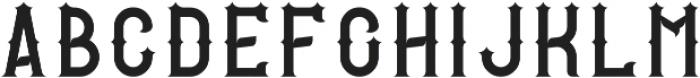 RockStar Regular otf (400) Font UPPERCASE
