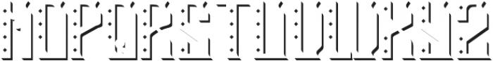 RockStar2 TextureAndShadowFX otf (400) Font LOWERCASE